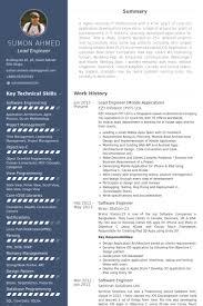 lead engineer resume samples visualcv resume samples database