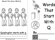 letter q alphabet activities at enchantedlearning com