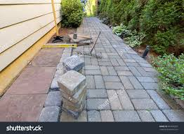Recycled Tire Patio Pavers by Patio 61 Stock Photo Stone Pavers And Tiles For Side Yard