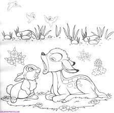 bambi coloring book for coloring