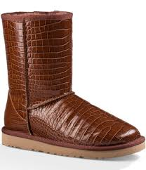 ugg sale shoes ugg croco boots in brown lyst
