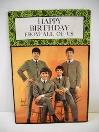 beatles birthday card linnica a 3d beatles birthday card the