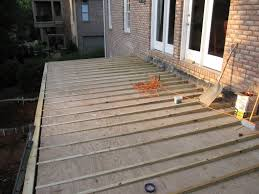 Stain Existing Concrete Patio by Repair Or Resurface Deck Above Living Space