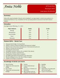 dental assistant resume templates 13 student resume exles high school and college