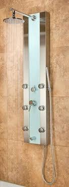 shower pulse showerspa mojave hammered copper shower panel