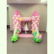 castle backdrop balloon princess castle decoration singapore balloon