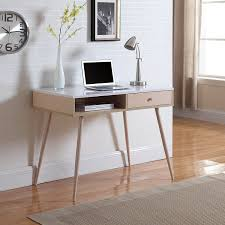 Small Maple Computer Desk Amazon Com Mid Century Modern Small Work Computer Desk White