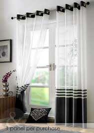 Wide Window Curtains by Glorious Black And White White Curtains For Double Swing Entry