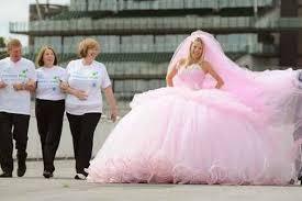 big gypsy wedding dress designer backs alzheimer u0027s memory walk