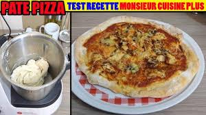 recettes cuisine plus recette pâte a pizza monsieur cuisine plus cuistovideo fr
