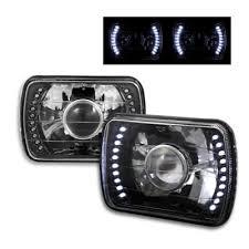 headlights jeep wrangler jeep wrangler 1987 1995 led black sealed beam projector headlight