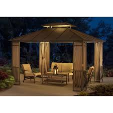 palram martinique 10 x 14 ft rectangular garden gazebo hayneedle