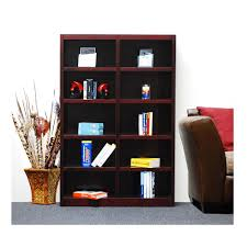 concepts in wood midas cherry open bookcase mi4872 c the home depot