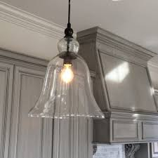glass pendant lights with edison bulbs large bell light