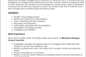 Mortgage Loan Officer Resume Sample by Wholesale Mortgage Account Executive Cover Letter