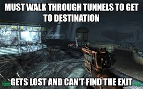 Funny Fallout Memes - 3 tunnels