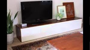 diy modern tv stand build floating wall for tv diy youtube