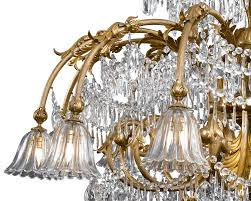 Chandelier India by Baccarat Art Deco Period Crystal Chandelier 18 Light Lighting