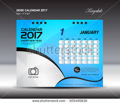 desk calendar 2017 year january 2017 stock vector 505490836