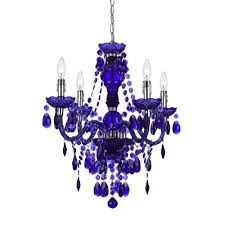 Blue Chandelier Shades Af Lighting Naples 4 Light Chrome Mini Chandelier With Purple
