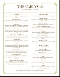 italian fine dining menu letter simple menus