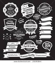 vintage design set vintage badges design elements stock vector 218363044