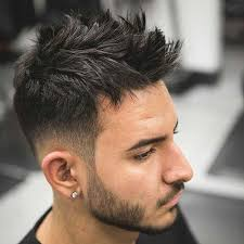 coloring haircut photo ideas dapper low taper with messy spikes