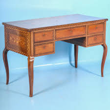 blue writing desk antique 19th century inlaid italian writing desk circa 1880
