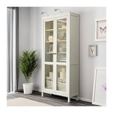glass cabinet hemnes glass door cabinet white stain 90x198 cm ikea