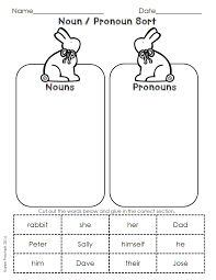 Proper Noun Worksheets For First Grade Easter Spring Language Arts Cut And Paste Morning Work