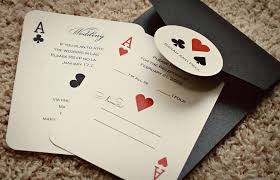 themed wedding invitations set of classic vegas or themed wedding invitations