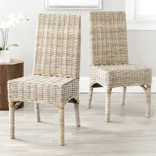 dining room white wicker dining chairs for minimalist dining room