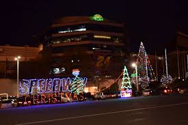 charlotte motor speedway christmas lights 2017 speedway elves begin countdown to christmas construction catchfence