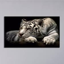2017 modern home decoration painting white tiger art prints
