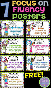 free fluency posters expression rate phrasing punctuation