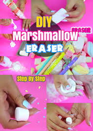 diy back to crafts how to make marshmallow eraser for kids