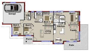 Narrow Lot 4 Bedroom House Plans 4 Bedroom House Plan With Double Garage U2013 Home Plans Ideas