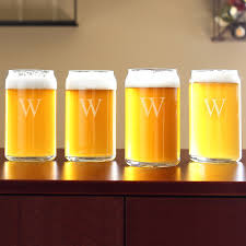 put a spin on traditional drinkware with these personalized beer