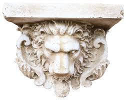 Buy Corbels Mini Royal Lion Corbel Travertine Stain Mediterranean Corbels