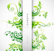 floral ornament vector design elements green plants with leafs and