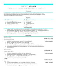 sales associate cv example for sales livecareer