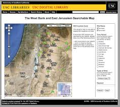West Bank Map Digital Map Reveals Israeli Archaeology Culture Monster Los