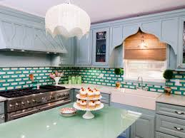 White Kitchen Cabinets With Gray Granite Countertops Pastel Green Subway Tile Backsplash Gray Granite Countertop White