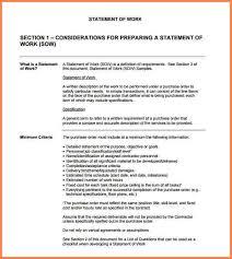 10 work statement statement synonym
