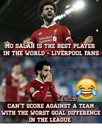 Meme Mo - standard chartered mo salah is the best player in the world