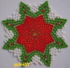 centrino la bella centrini di perline doily beads napperon