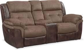 Power Reclining Sofa And Loveseat Sets Tacoma Dual Power Reclining Sofa And Loveseat Set Brown Value