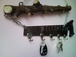 Decorative Key Racks For The Home Upcycled Welcome Home Key Holder Organizer From Pad Saw