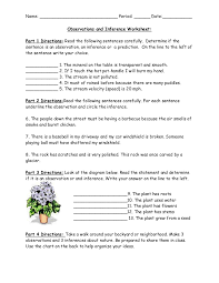 observation and inference worksheet free worksheets library