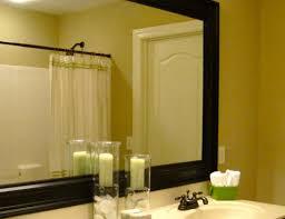 mirror minimalist large wall mirror above black vanity inside